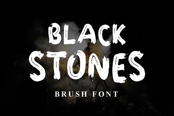 Black Stones Font - Famous Decorative
