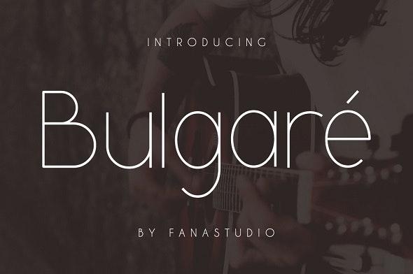 Bulgare Font - Sans-Serif Fonts