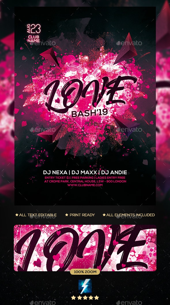 Love Party Flyer - Clubs & Parties Events