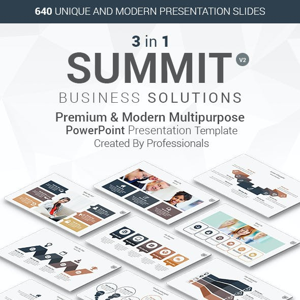 3 in 1 Summit PowerPoint Template Bundle