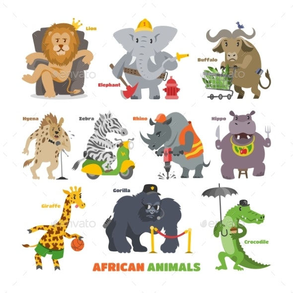African Animals Vector - Animals Characters
