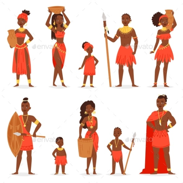 African People Vector - People Characters