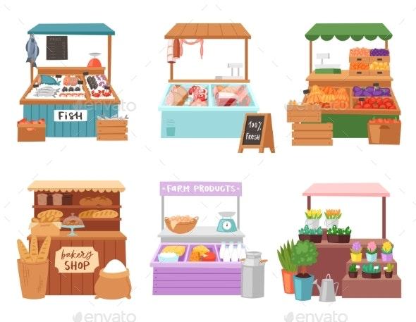 Food Market Vectors - Food Objects