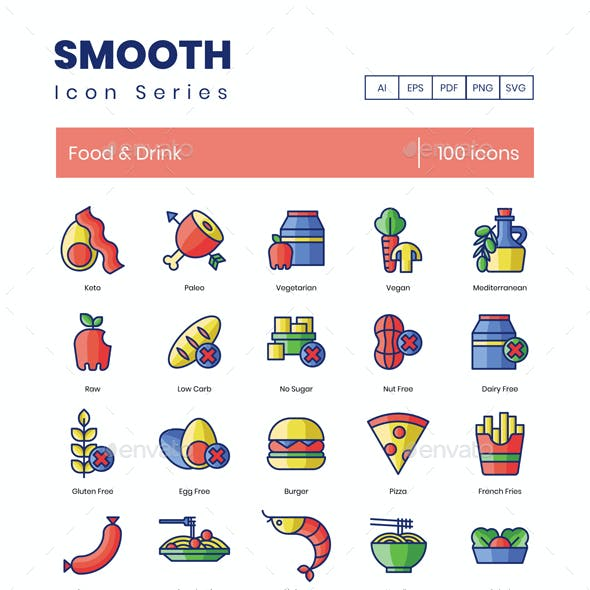 Food Drink Icons - Smooth Series