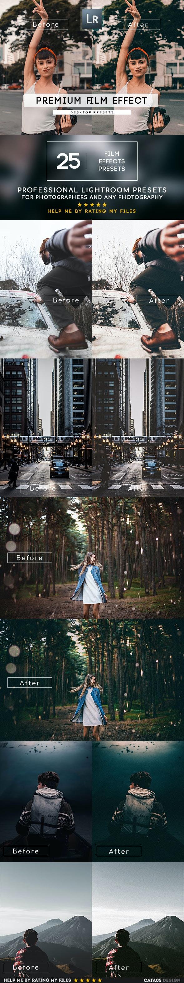 25 Film Effect Presets - Film Lightroom Presets