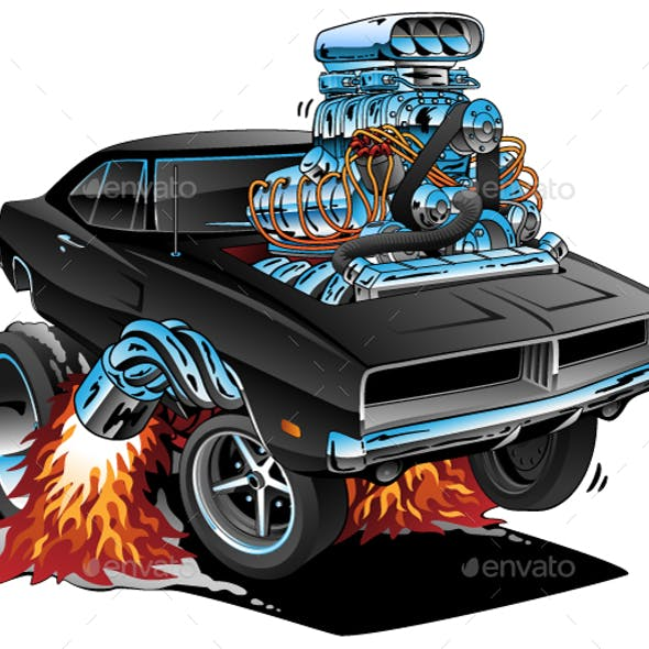 Classic Sixties Style American Muscle Car