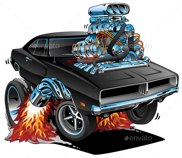 Classic Sixties Style American Muscle Car - Miscellaneous Conceptual