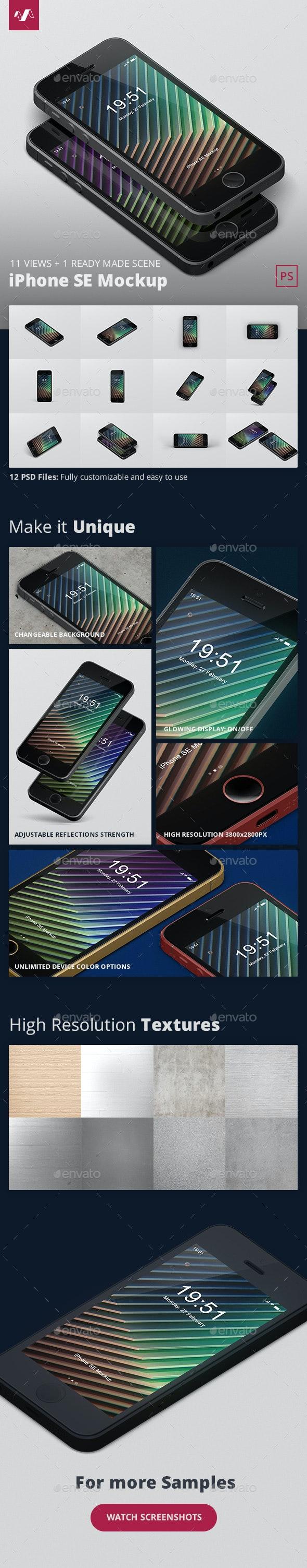 Phone SE Mockup - Mobile Displays