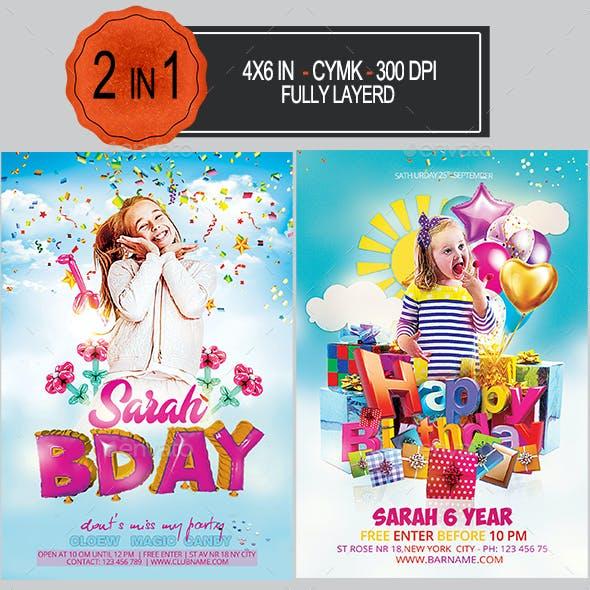 Kids Party Flyer Bundle