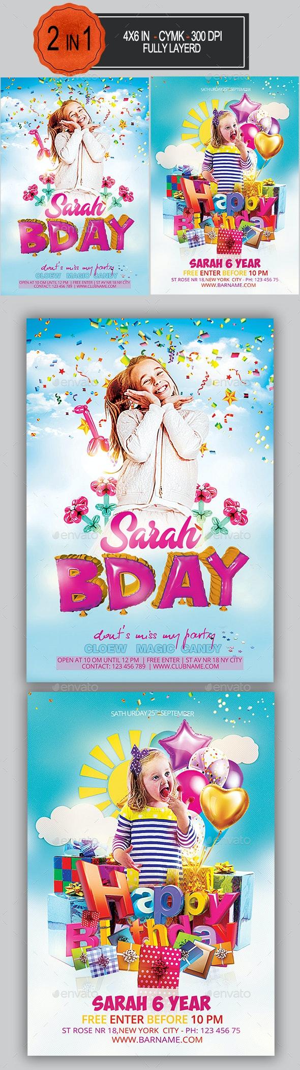 Kids Party Flyer Bundle - Clubs & Parties Events
