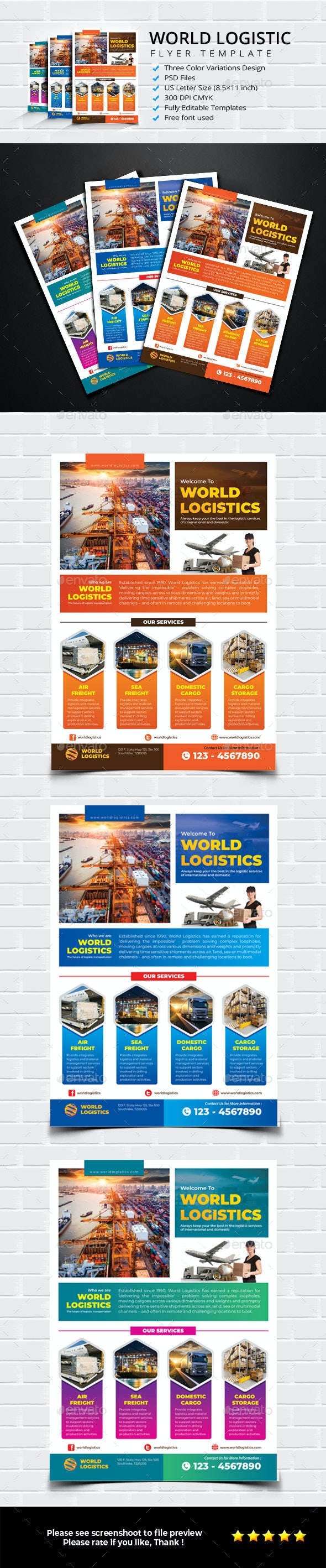 Global Logistic Flyer - Commerce Flyers