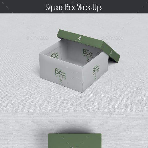 Square Box Mockups