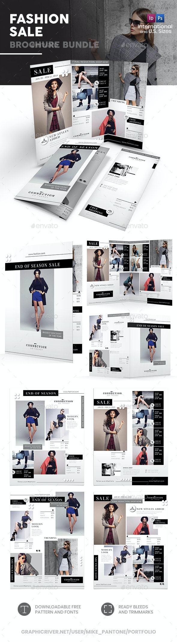 Fashion Shop Sale Print Bundle - Informational Brochures