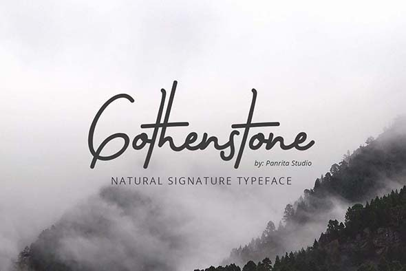 Gothenstone - Hand-writing Script