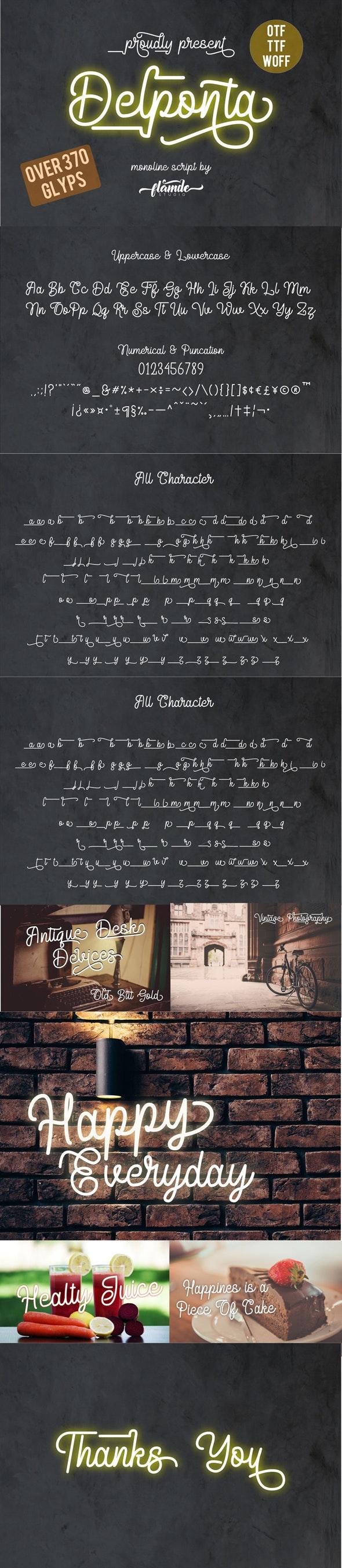 Delponta Monoline Script - Script Fonts