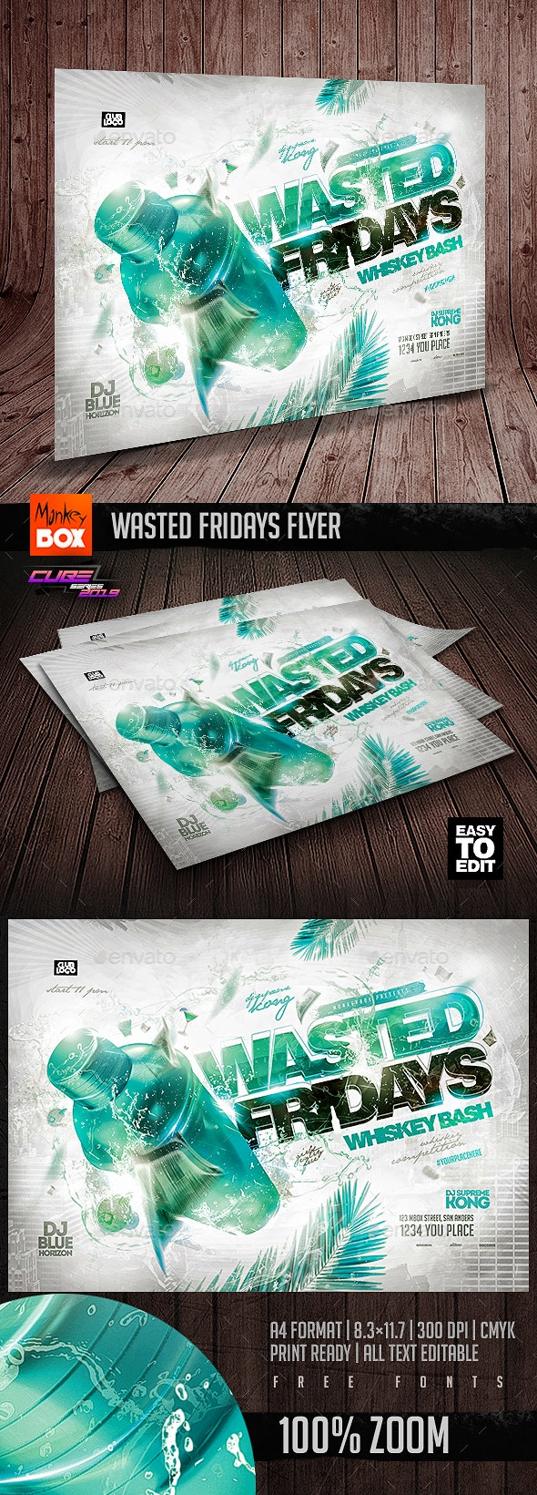 Wasted Fridays Flyer - Clubs & Parties Events