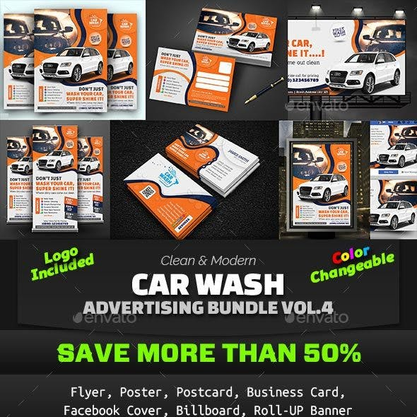 Car Wash Advertising Bundle Vol. 4