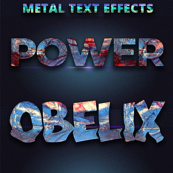 Realistic Mattel Text Effects