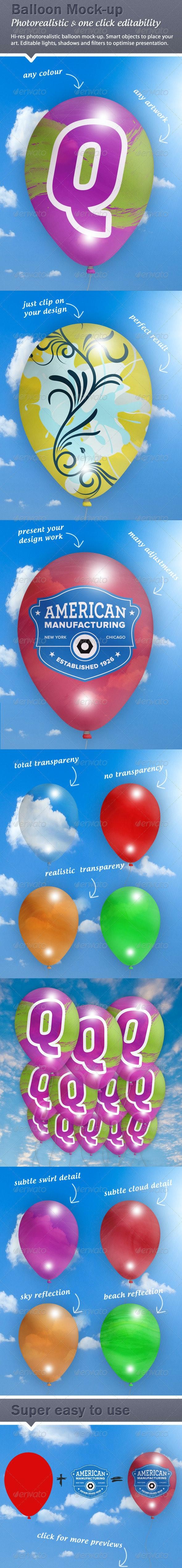 Ballon Graphics Mock-Up - Miscellaneous Product Mock-Ups