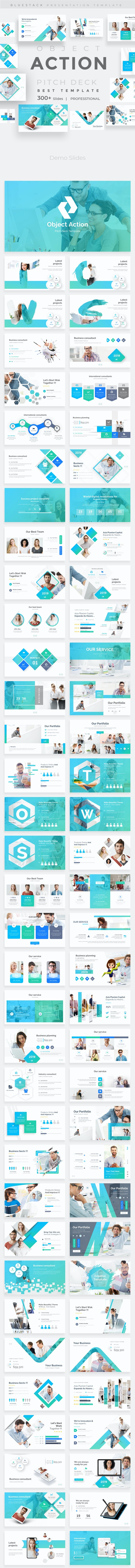 Object Action Pitch Deck Powerpoint Template - Business PowerPoint Templates