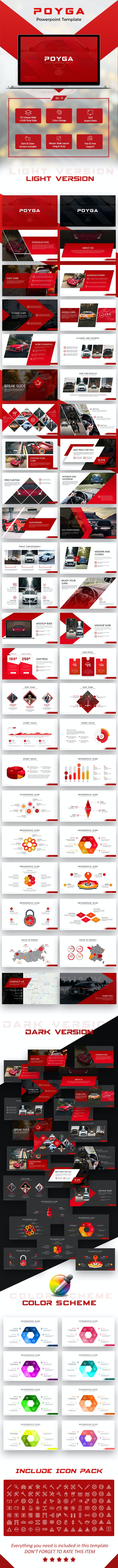 Poyga Automotive Presentation Template - PowerPoint Templates Presentation Templates