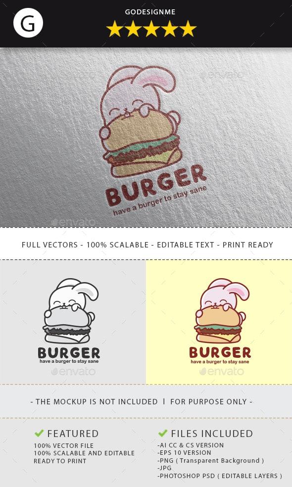 Burger Logo Design - Vector Abstract