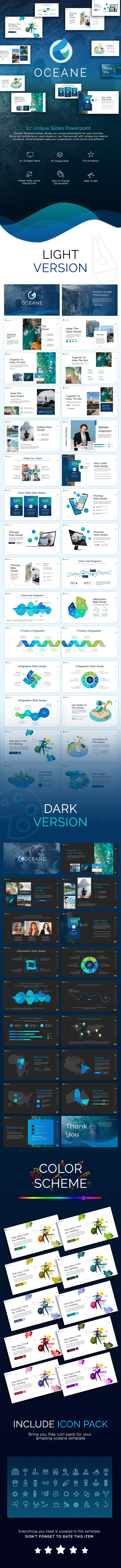 Oceane Presentation Template - Nature PowerPoint Templates