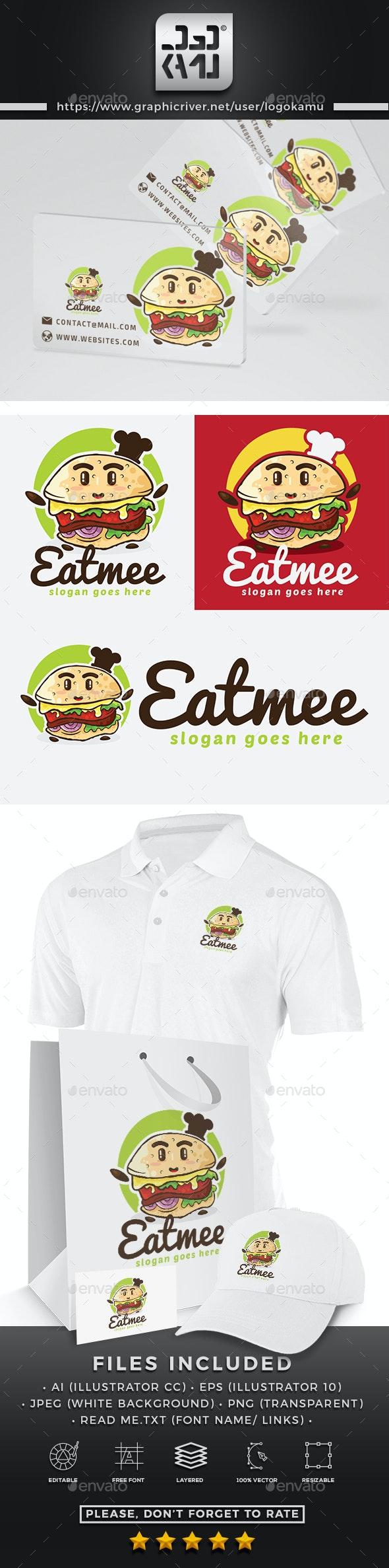 Cute Burger Logo - Restaurant Logo Templates