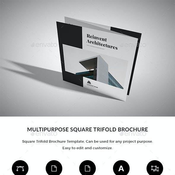 Architecture / Multipurpose Square trifold Brochure Indesign Template