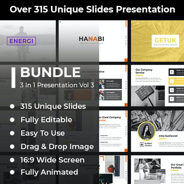 Bundle 3 in 1 Google Slides Template Vol 3