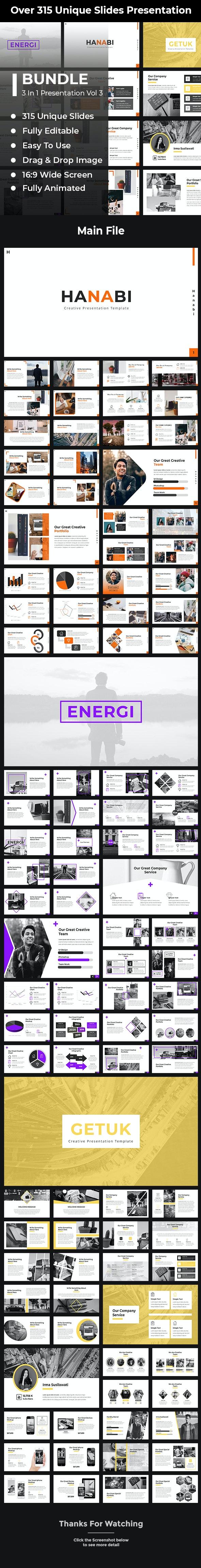 Bundle 3 in 1 Keynote Template Vol 3 - Creative Keynote Templates
