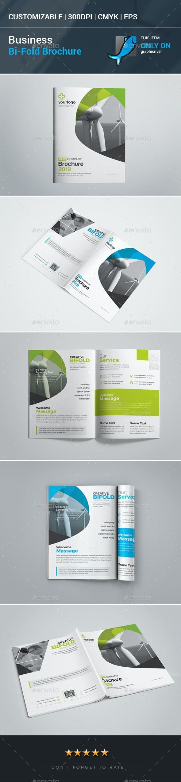 Business Bifold Brochure - Corporate Brochures