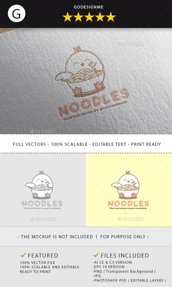 Noodle Logo Design - Vector Abstract