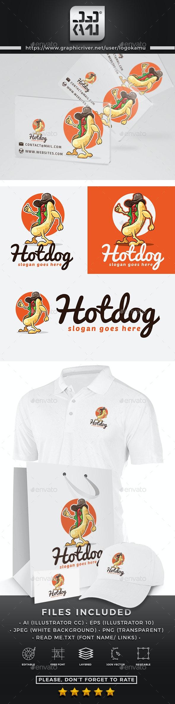 Hot dog Cartoon Logo - Restaurant Logo Templates