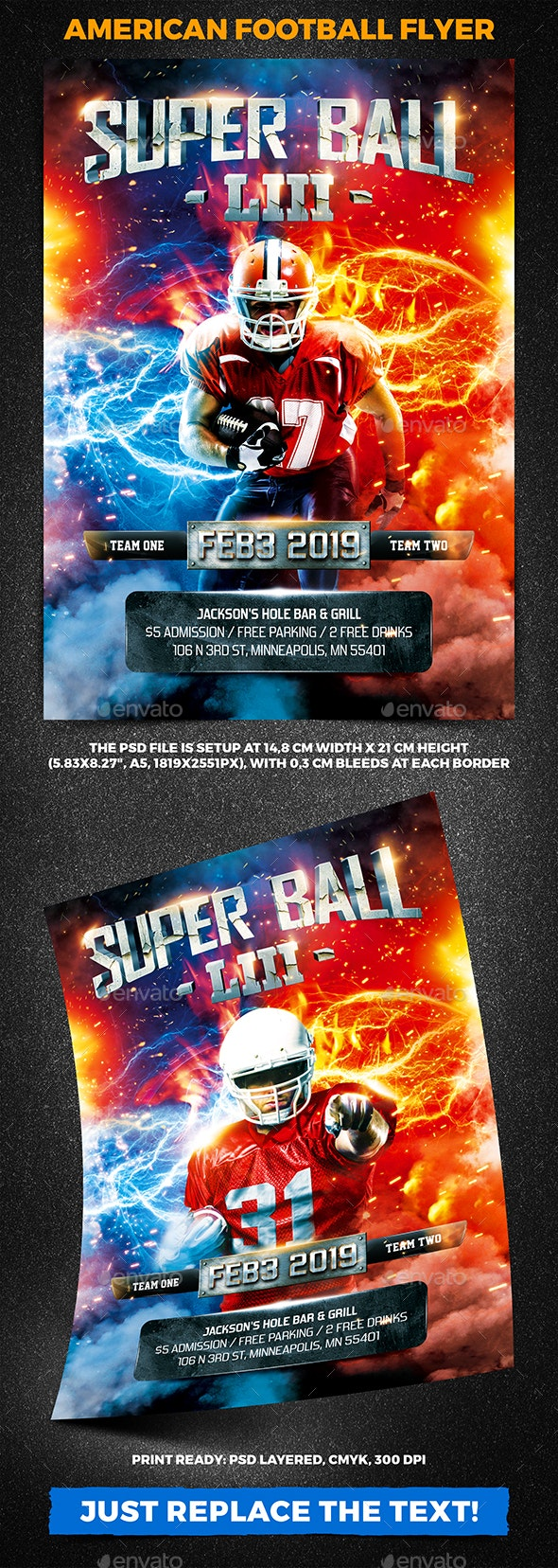 American Football Super Ball Flyer vol.10 - Sports Events