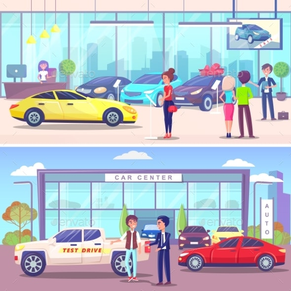 Car Center Buyer and Manager, Vehicle Showroom - Man-made Objects Objects