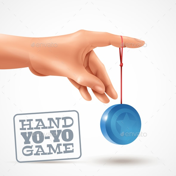Hand Yoyo Game Background - Sports/Activity Conceptual