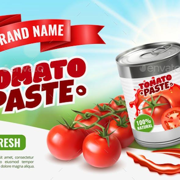 Tomato Paste Poster Ad