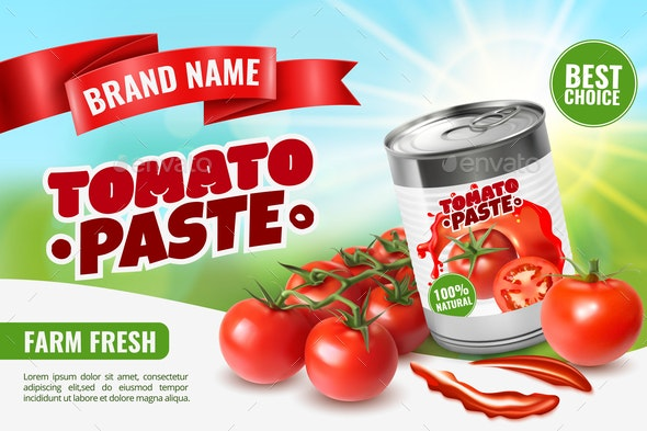Tomato Paste Poster Ad - Food Objects