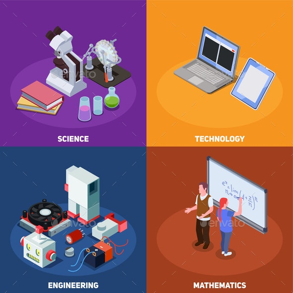 STEM Education Design Concept - Industries Business
