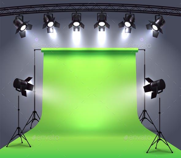 Photo Studio Spotlights Composition