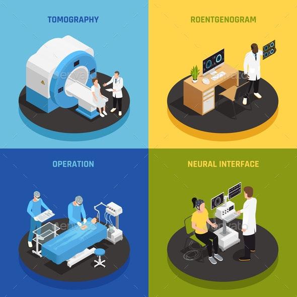 Neurology Concept Icons Set - Health/Medicine Conceptual