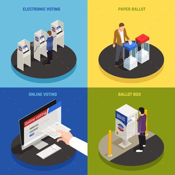 Elections Concept Icons Set - Miscellaneous Conceptual
