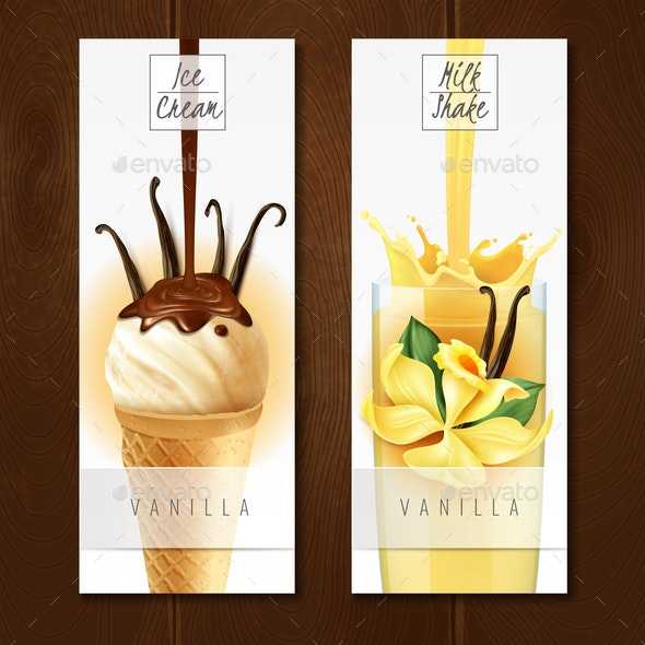 Vanilla Dessert Realistic Banners - Food Objects
