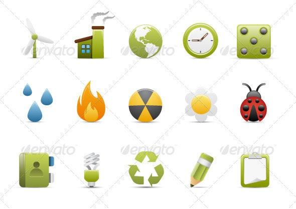 Design Natural Icons Set - Web Icons