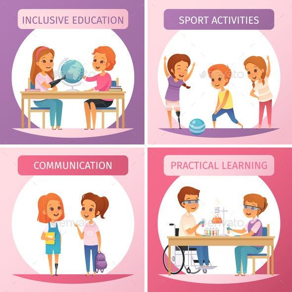 Inclusion Inclusive Education Icon Set