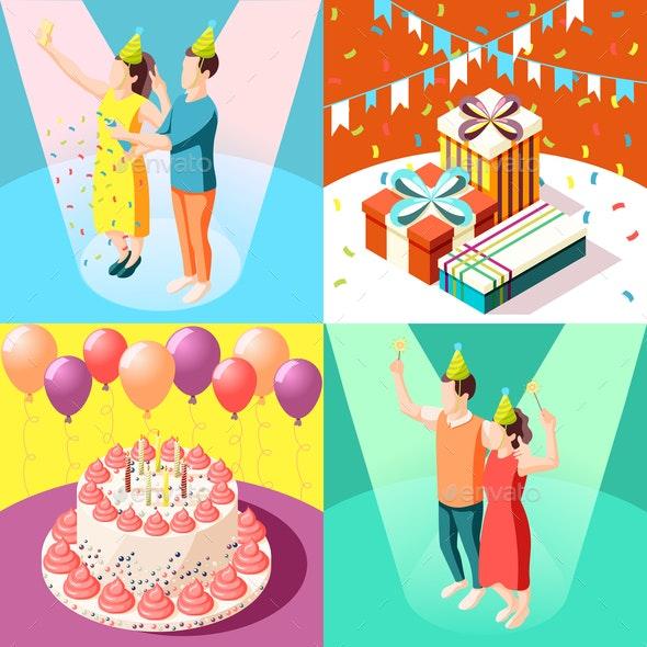 Birthday Party 2x2 Design Concept - Birthdays Seasons/Holidays
