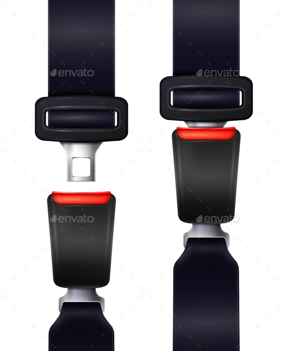 Realistic Seat Belts Set - Man-made Objects Objects