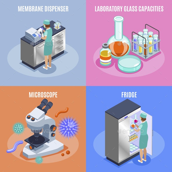 Microbiology Icon Set - Computers Technology