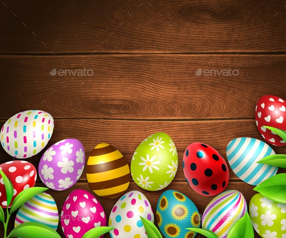 Easter Eggs Background Top - Miscellaneous Seasons/Holidays